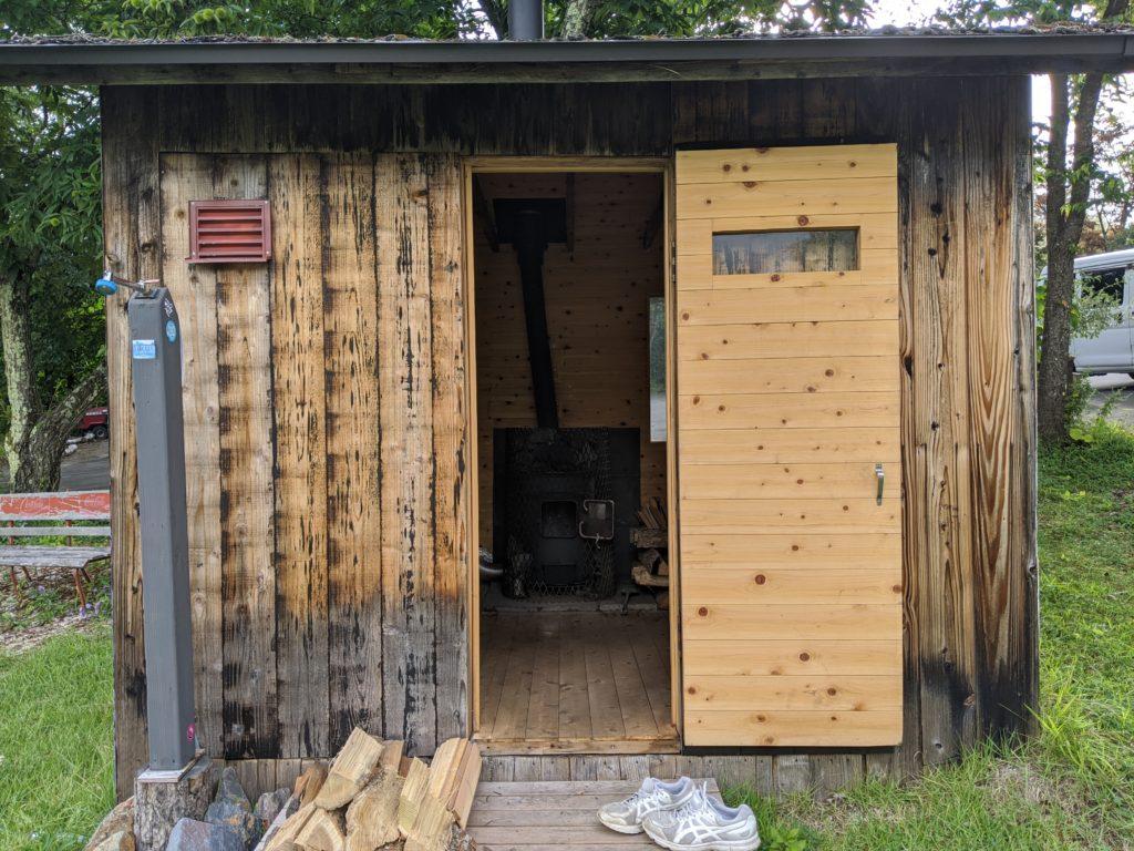 蓼科湖エリアのサウナつきキャンプ場