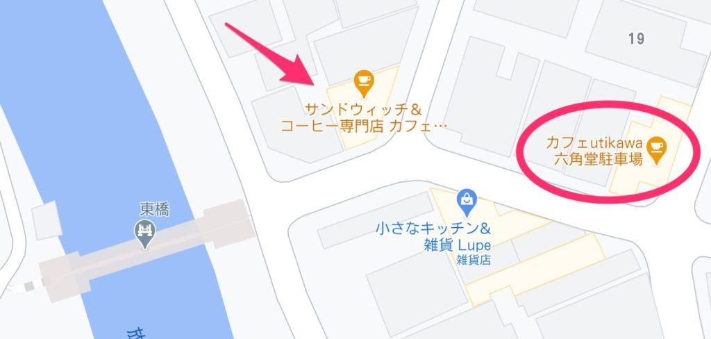 六角堂アクセス、駐車場マップ