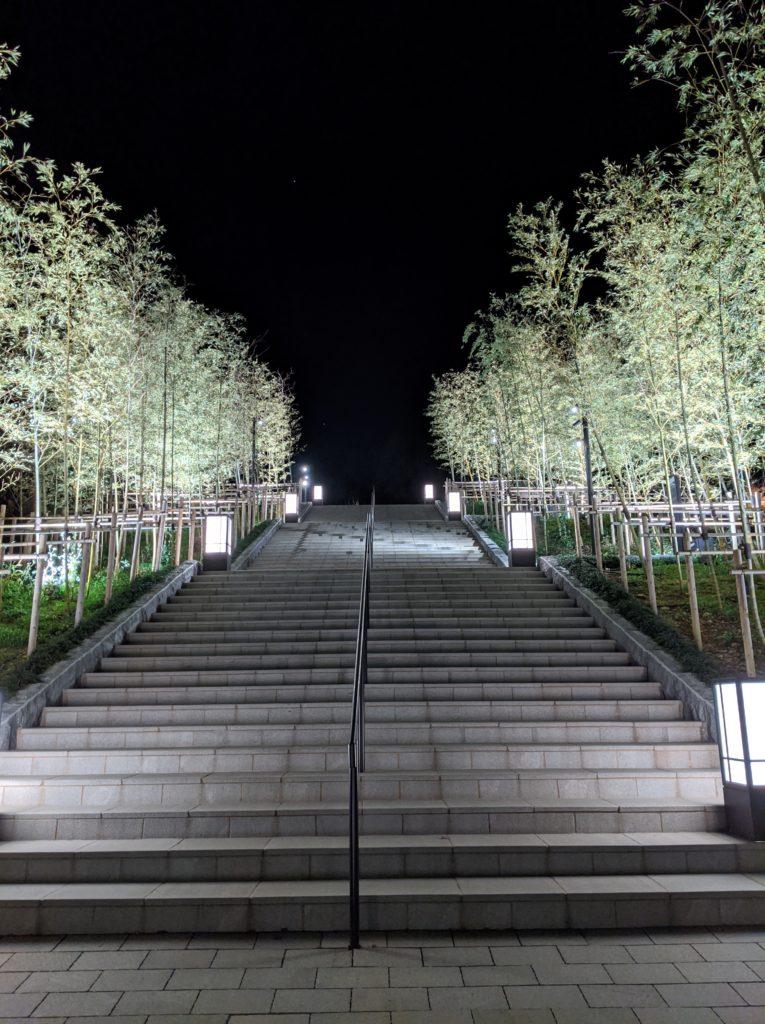 長門湯本温泉の竹林ライトアップ