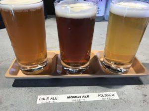 宮島で美味しい牡蠣とクラフトビールを楽しめるお店「宮島ブリュワリー」の飲み比べセット