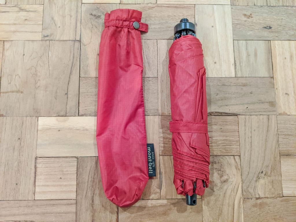 ひとり旅女子におすすめのアイテム-モンベルの軽量傘