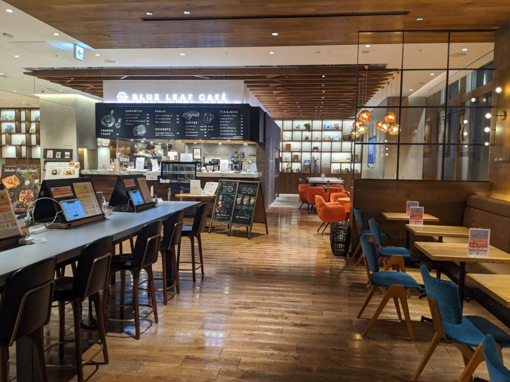 仙台でノマドワーク/ワーケーションにおすすめのカフェ(BLUE LEAF CAFE)の店内・客席