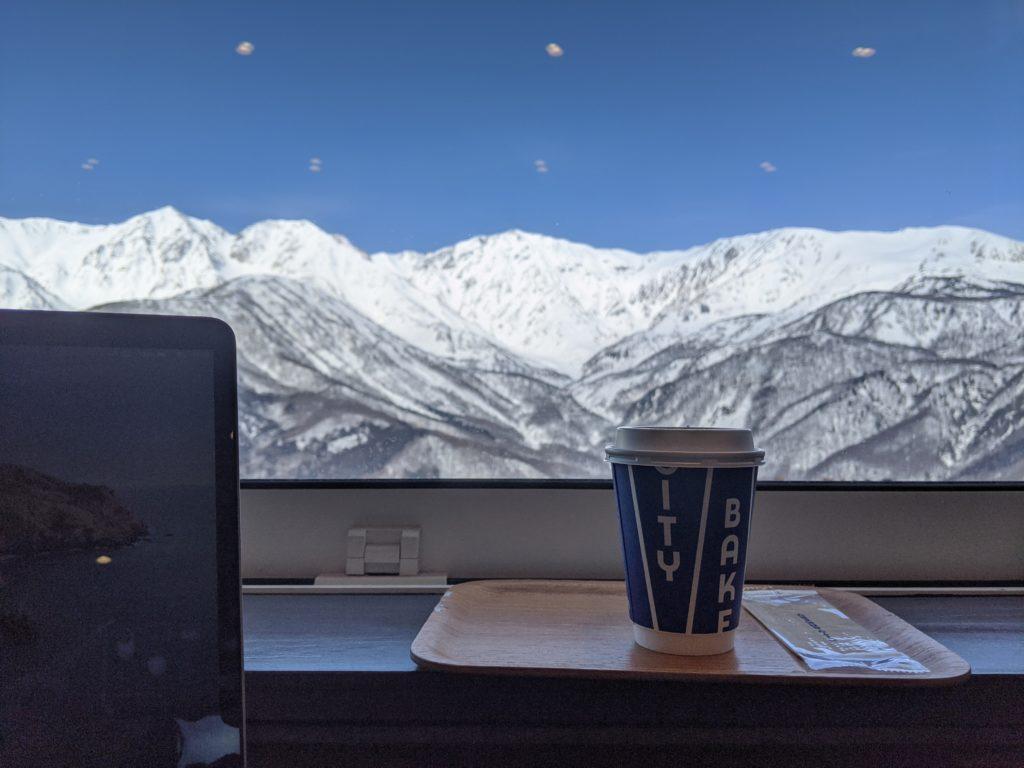 白馬でのノマド・ワーケーションにおすすめのカフェ(岩岳マウンテンハーバー)THE CITY BAKERY絶景テラス