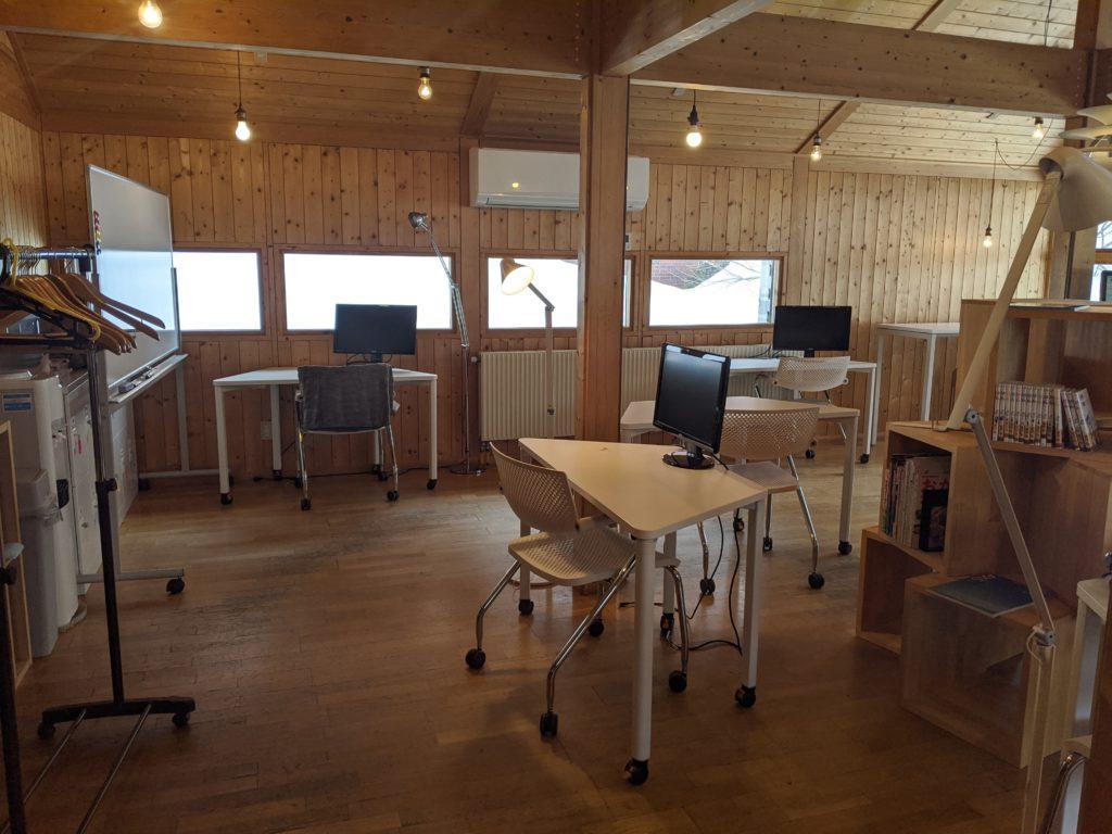 白馬でのノマド・ワーケーションにおすすめのカフェ(ノルウェービレッジ)の施設内